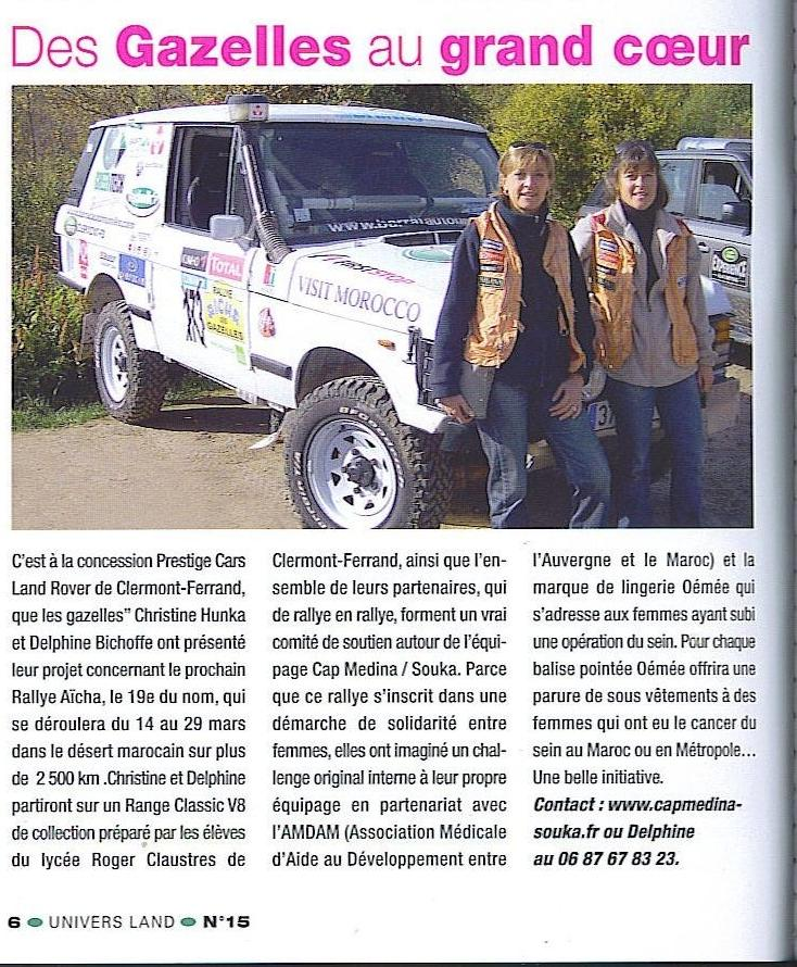 Univers Land Avril 2009 / Article de presse