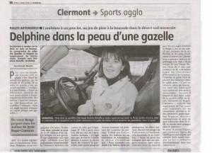 Delphine Bichoffe - Article La Montagne  article 5 mars