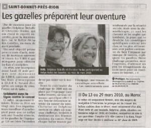 Gazelle Delphine Bichoffe La montagne édition Riom 16 août 2009