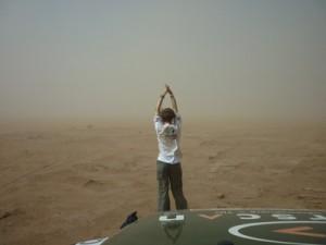 Rallye des Gazelles  2010 - tempête