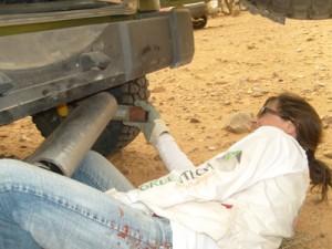 Rallye des Gazelles 2010 - Pot d'échappement